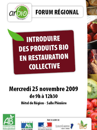 Inscription avant le 23 novembre sur biosudouest.com
